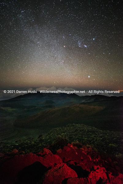 Haleakala Crater at Night