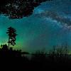 Milky Way and Aurora over Keweenaw Bay 01