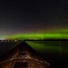 Aurora over Jacobsville breakwater 01