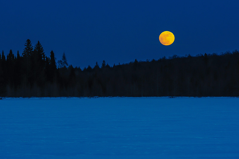 Snow Moon rising over Lac Vieux Desert 02