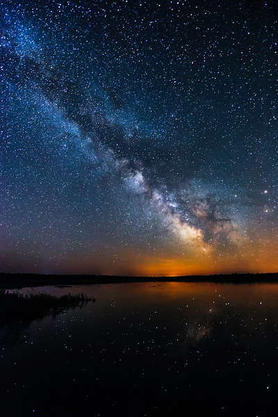 Milky Way over Lower Ninemile Lake 01