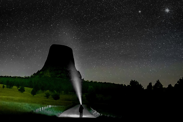 Shining on Devils Tower