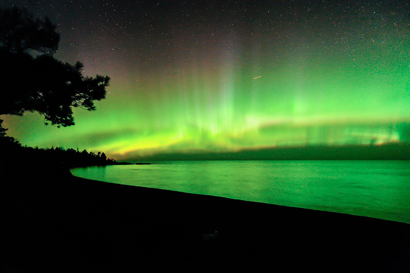 Aurora near Copper Harbor 01