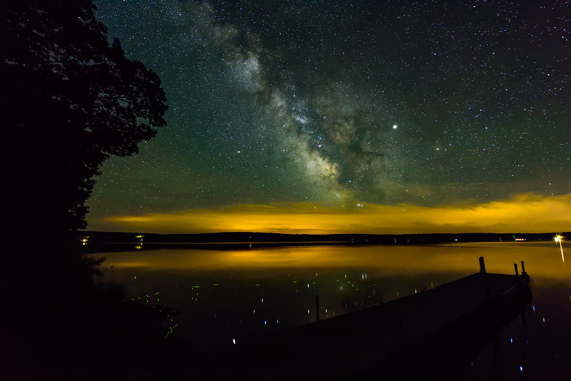 Milky Way and Fireflies over Big Sand Lake 01