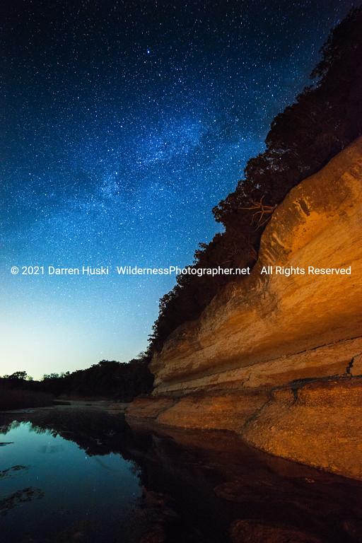 Nolan River Bluff Nightscape