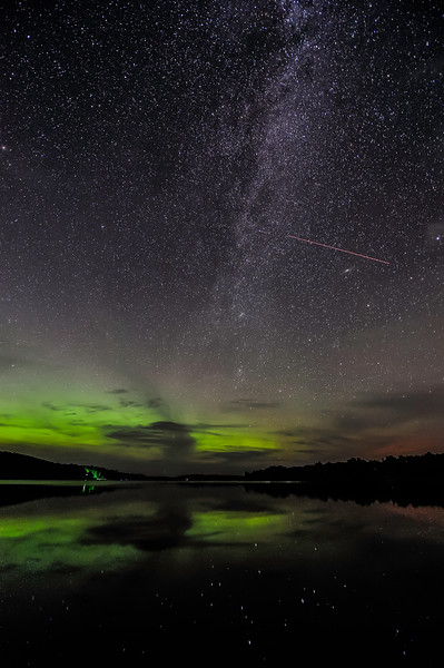 Aurora and Milky Way over Smokey Lake 03
