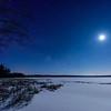 Moonlit snow on Lower Ninemile Lake 01