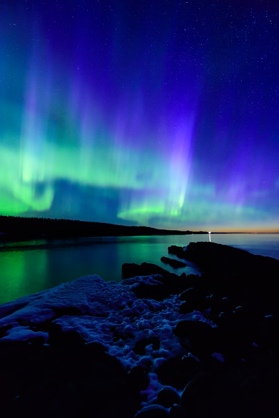 Aurora over Minnesota's North Shore 07