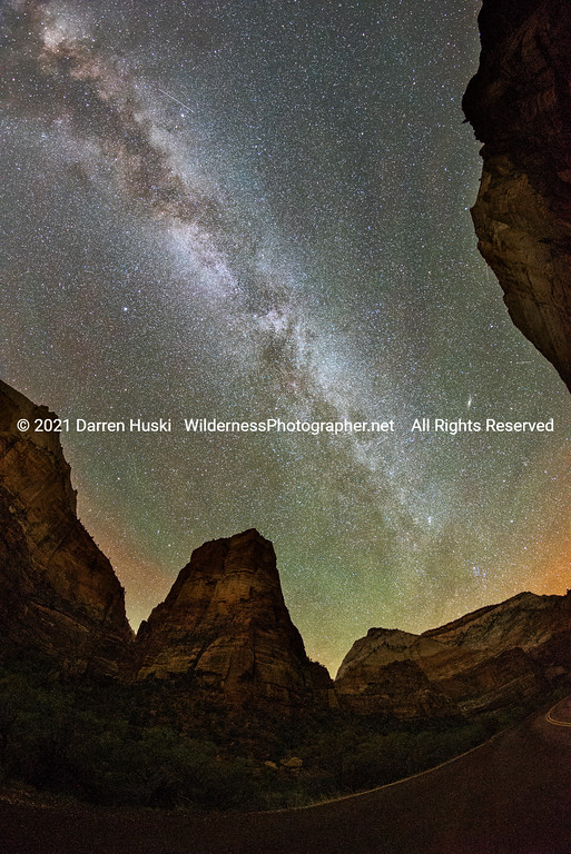 Zion Canyon and Milky Way