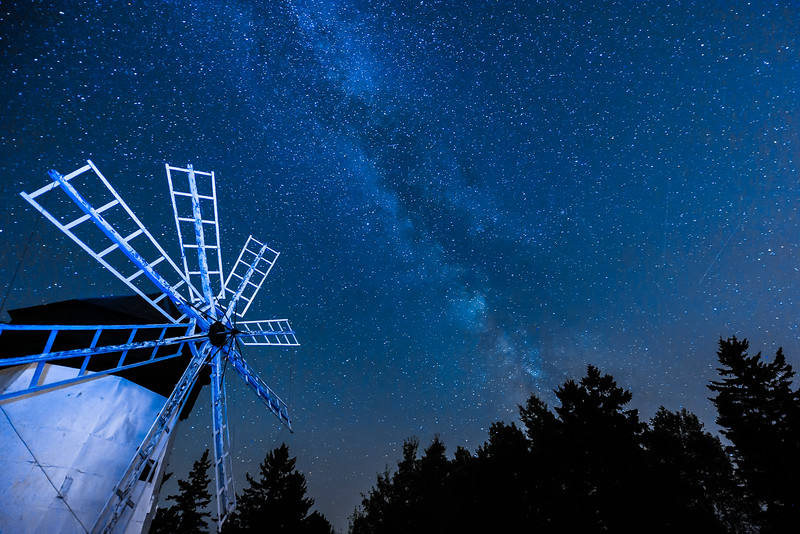 Milky Way over Davidson Windmill