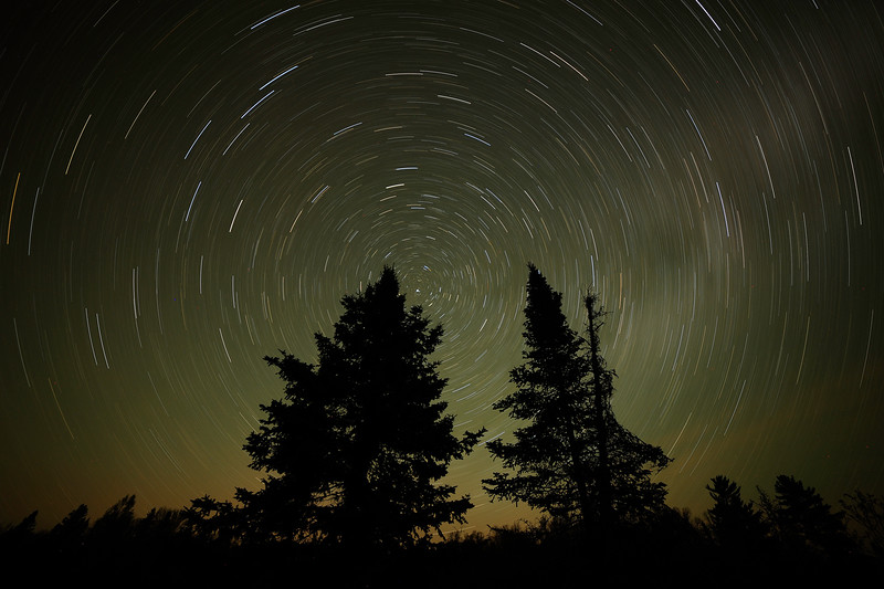 Star Trails over Taylor Lake