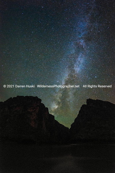 Our Galaxy over the Rio Grande and Santa Elena