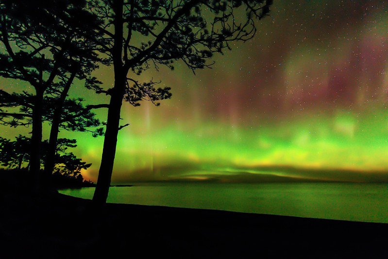 Aurora near Copper Harbor 02