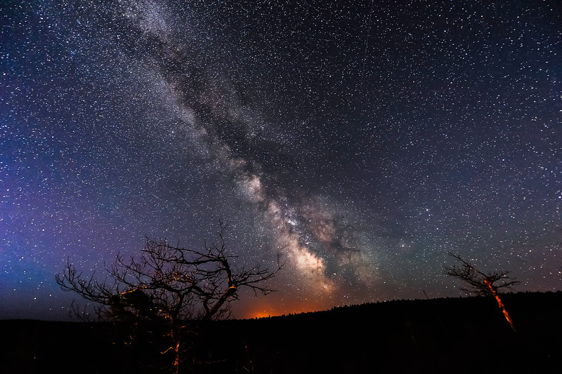 Milky Way at Brockway Mountain Overlook 01