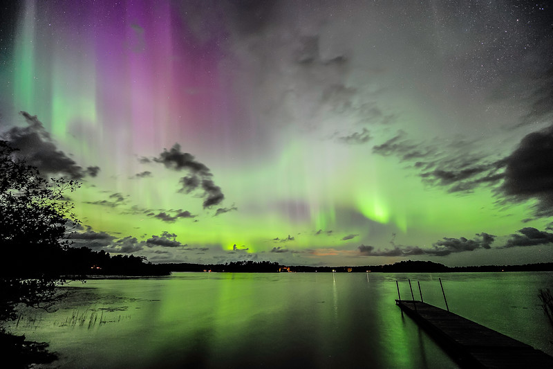 Aurora over Pioneer Lake, WI 02
