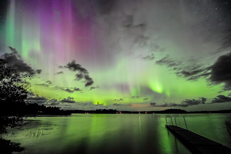 Aurora over Pioneer Lake, WI 02