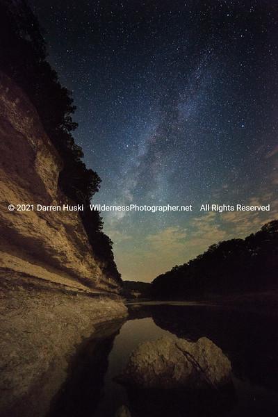 Rocky Bluff by Night