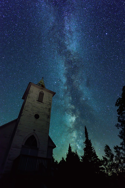 Milky Way over Bethany Church 02