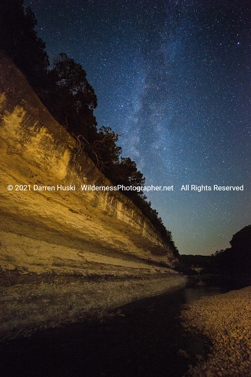 Nolan River Bluff Nightscape