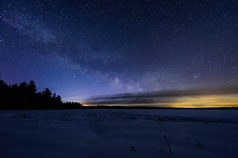 Early season Milky Way over Lower Ninemile Lake