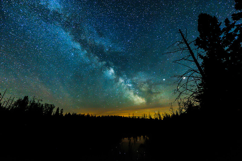 Milky Way over the Pine River 01