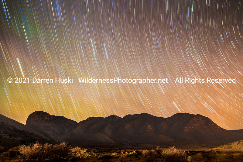 Star Trails over the Guadalupes