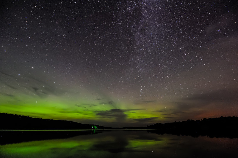 Aurora and Milky Way over Smokey Lake 02