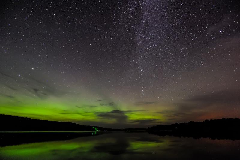 Aurora and Milky Way over Smokey Lake 02