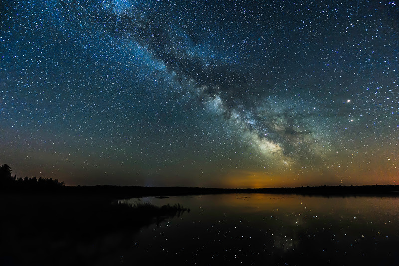 Milky Way over Lower Ninemile Lake 02