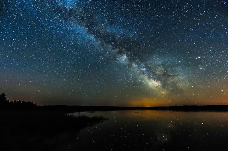 Milky Way over Lower Ninemile Lake 02