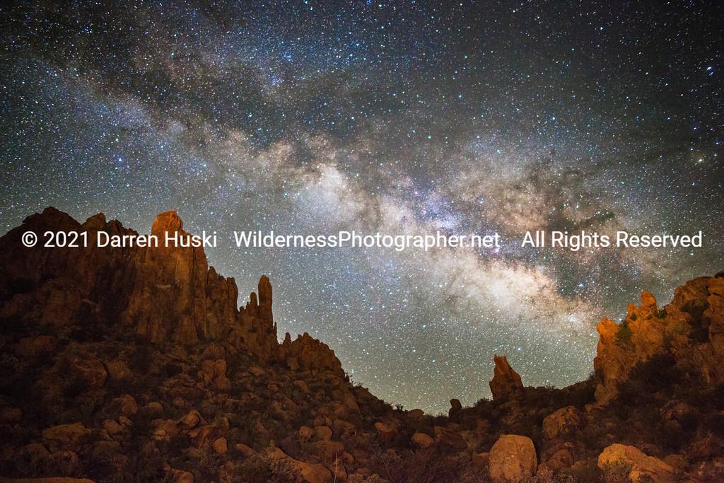 Pinnacles at Night