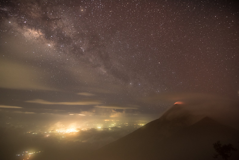 From Earth Core to Milky Way - Volcan de Fuego, Guatemala
