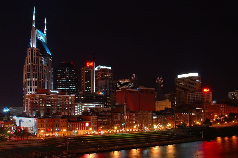 Nashville - View from the Walking Bridge