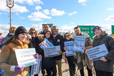 Zioness Movement attends and marches at the 'No Hate No Fear Solidarity March' in New York on January 5, 2020