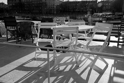 Deck chairs  ...and tables