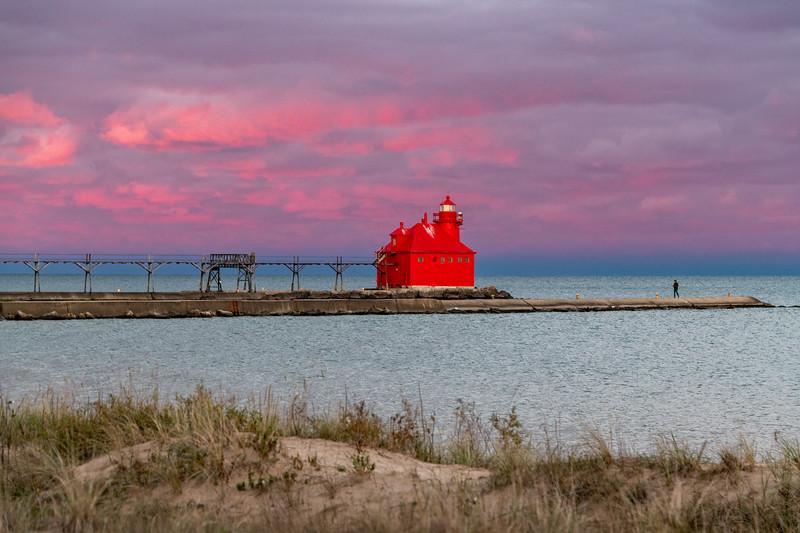 Sturgeon Bay Lighthouse at Sunset