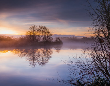 Misty Bure Sunrise