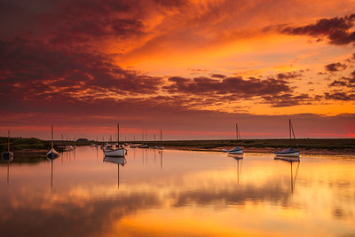Red Sky Over Burnham Overy