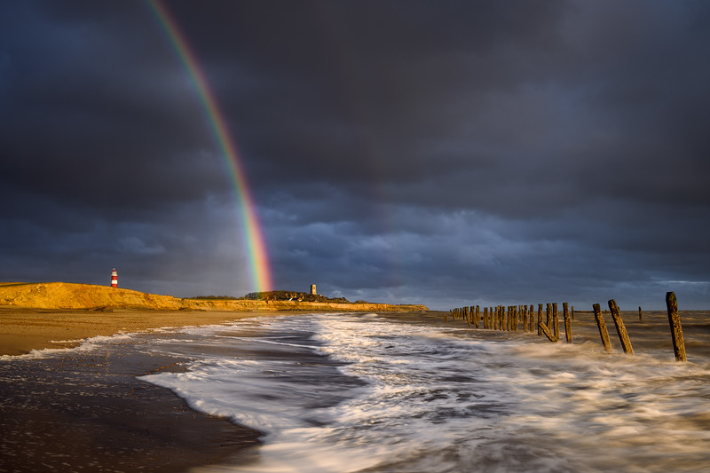 Happisburgh Beach Rainbow