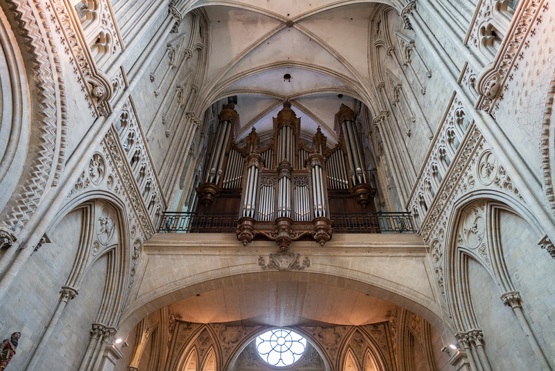Organ in Bayeux Cathedral