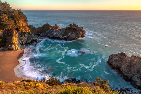 McWay Falls at Sunset