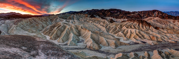 Sunrise Panorama at Zabrinskie Point