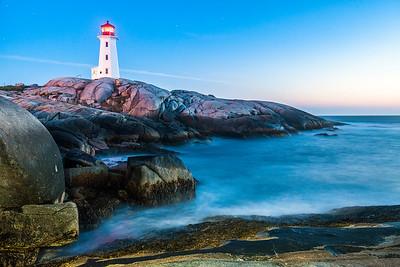 Peggy's Point Lighthouse at Dusk