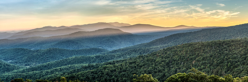 Shenandoah Sunset Panorama
