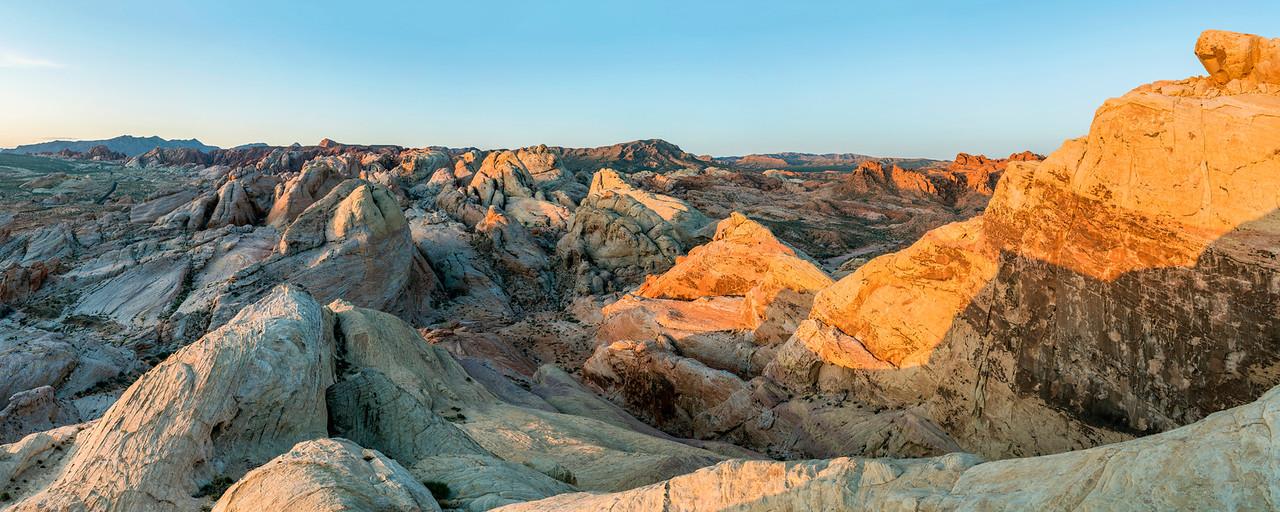 White Domes Sunrise Panorama 2