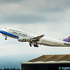 China Arlines 747 lifts off from LAX