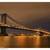 The Manhattan Bridge at night