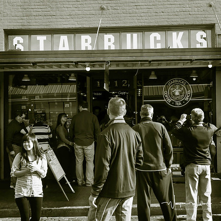 The original Starbucks store at Pike Place Market is still serving coffee to visiters and residents of Seattle. The chain formed in 1971 also operates Seattle's Best Coffee which pretty well ensures that it is the most popular coffee in the USA.