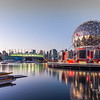 Science World in the early evening