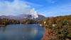 Forest fire at Lake Lure